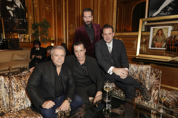 Patrick Hellmann, Till Lindemann, Alec Voelkel and Sascha Vollmer GQ Bar opening at Patrick Hellmann Schlosshotel (Photo by Andreas Rentz/Getty Images for Patrick Hellmann Schlosshotel)