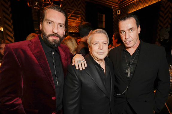Alec Voelkel, Patrick Hellmann and Till Lindemann GQ Bar opening at Patrick Hellmann Schlosshotel (Photo by Andreas Rentz/Getty Images for Patrick Hellmann Schlosshotel)
