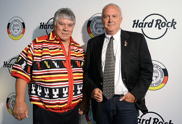 James Billie und Hamish Dodds, President und CEO von Hard Rock International, Foto © Hard Rock International