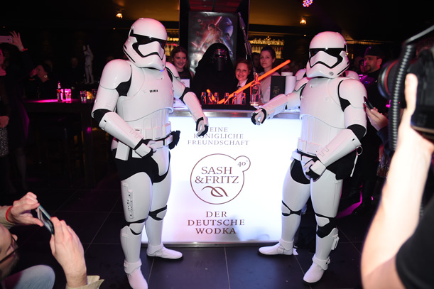 Offizielle Star-Wars-Premieren-Party 16.12.2015 mit dem deutschen Wodka Sash & Fritz im Puro Berlin. Copyright: Star Press