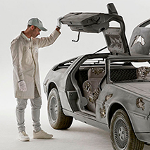 Daniel Arsham - Kunstschau mit DeLorean-Auto | Zurück in die Zukunft, © Photo by Guillaume Ziccarelli. Courtesy of the artist & Perrotin.