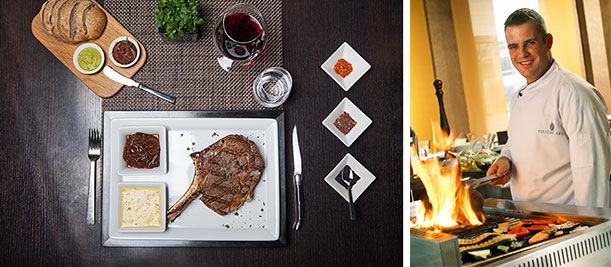Selektion Deutscher Luxushotels - Midtown Grill in Berlin | Hommage an das Rib Eye Foto © Ricarda Spiegel