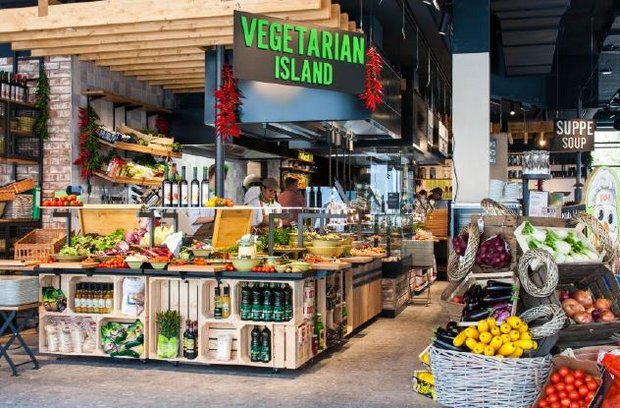 ©Marché International: Vegetarian Island im neuen Markplatzrestaurant in Metzingen