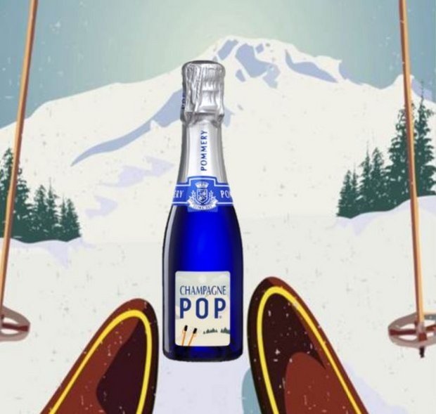 POMMERY Winter Edition des POP Bleu Extra Dry Champagne