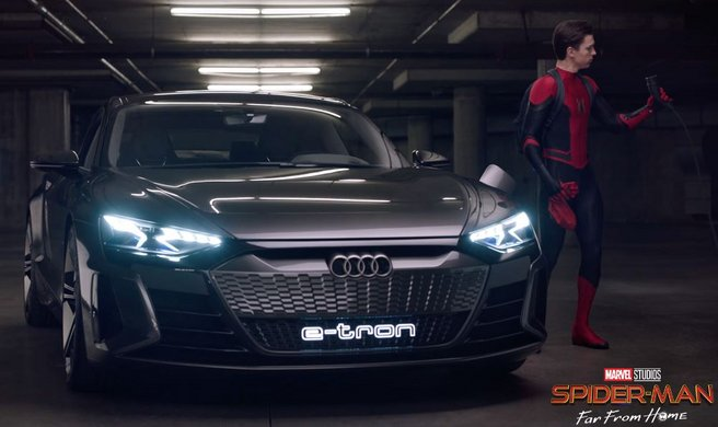Audi und Sony elektrisieren Spider-Man: Far From Home Copyright: AUDI AG