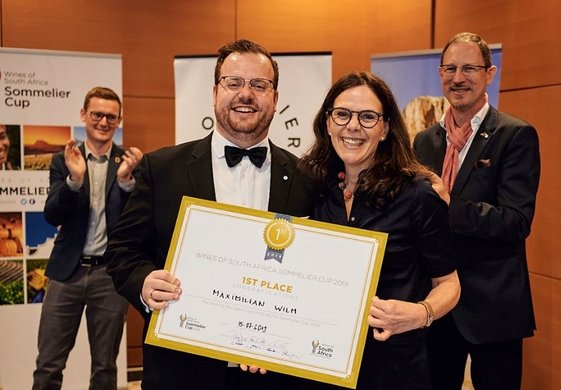 Maximilian Wilm (WoSA Sommelier Germany 2019),  Petra Mayer (WoSA Market Manager Germany),