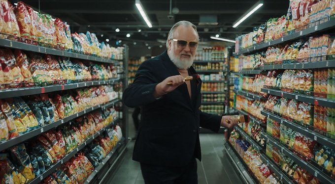 Friedrich Liechtenstein in der Edeka-Marketingkampagne Pressefoto: Edeka