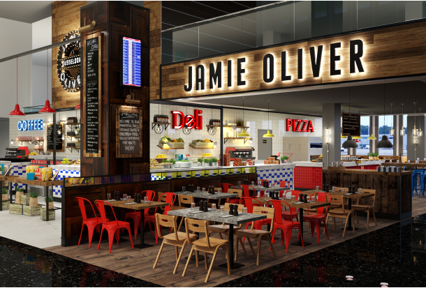 jamie oliver tim m lzer heben ab restaurants im d sseldorfer flughafen gourmetwelten das. Black Bedroom Furniture Sets. Home Design Ideas