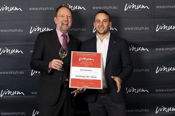 Vinum Niko Brandner (Hessische Bergstraße) ist Aufsteiger des Jahres